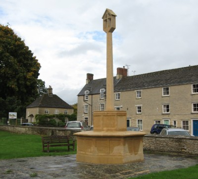 Fairford's recently cleaned War Memorial